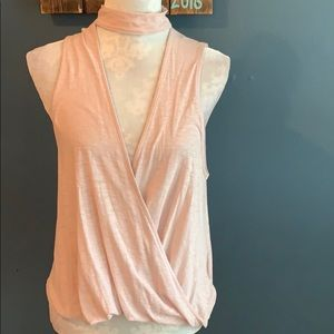 NWT Silence + Noise | Blush Faux Wrap Top